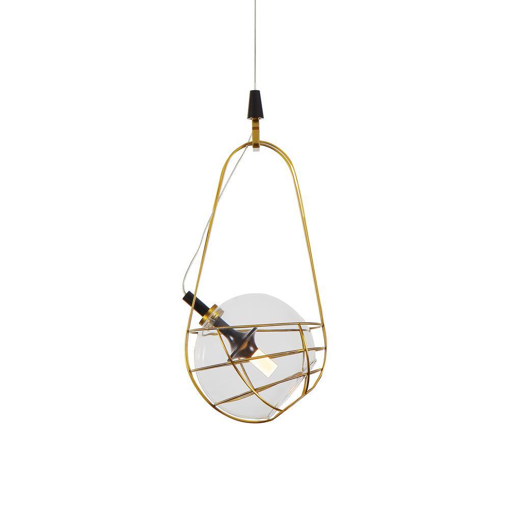 Firenze 15-Watt Integrated LED Antique Brass Pendant