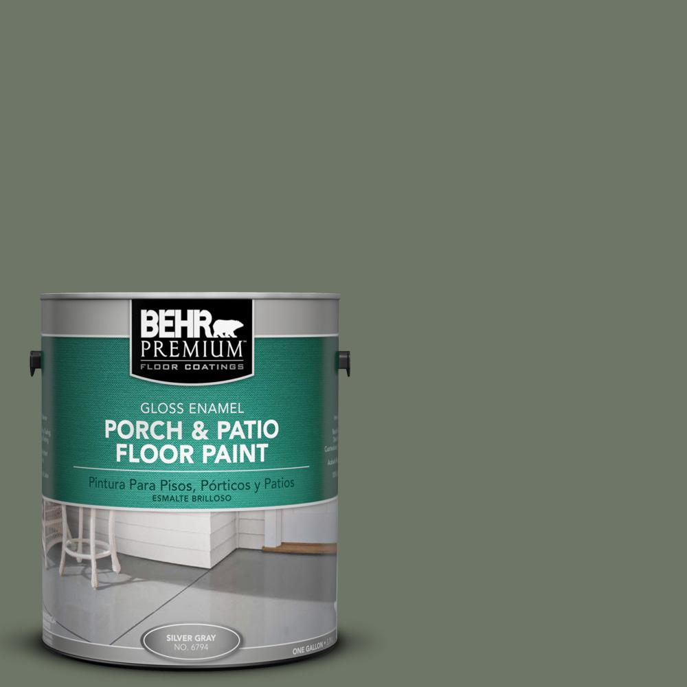 1 gal. #PPU10-19 Conifer Green Gloss Porch and Patio Floor Paint