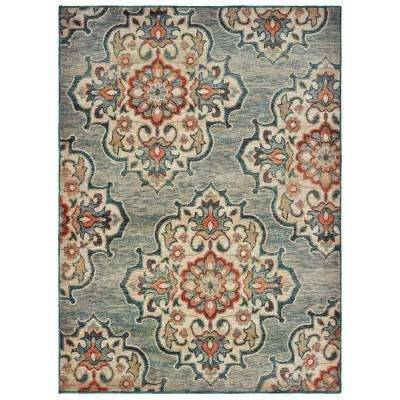 Hensley Gray 5 ft. 3 in. x 7 ft. 6 in. Area Rug