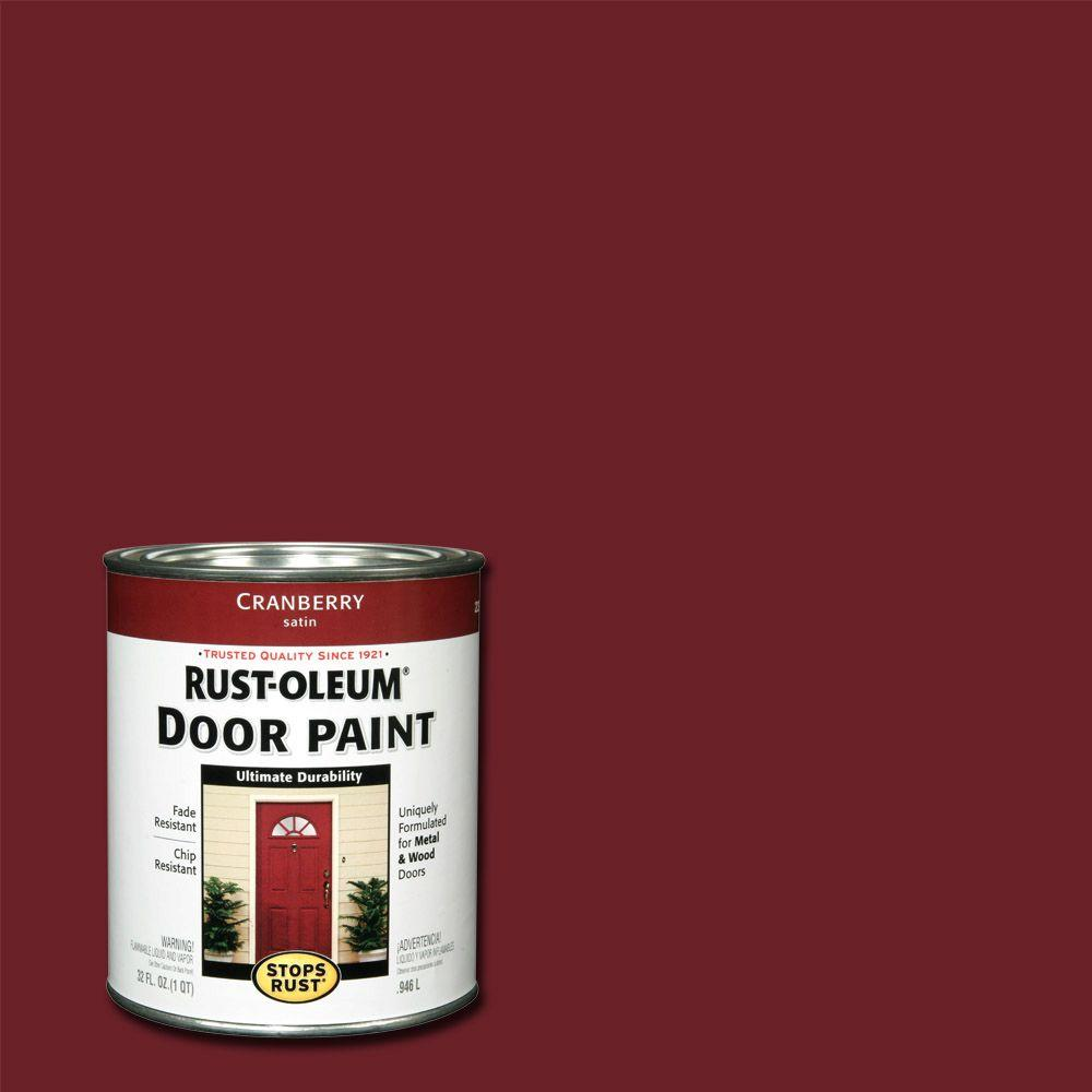 Rust-Oleum Stops Rust 1 qt. Cranberry Door Paint (2-Pack)