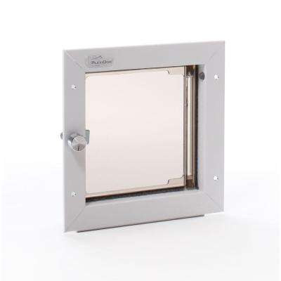 6.5 in. x 7.25 in. Small White Wall Mount Cat or Small Dog Door Requires No Replacement Flap