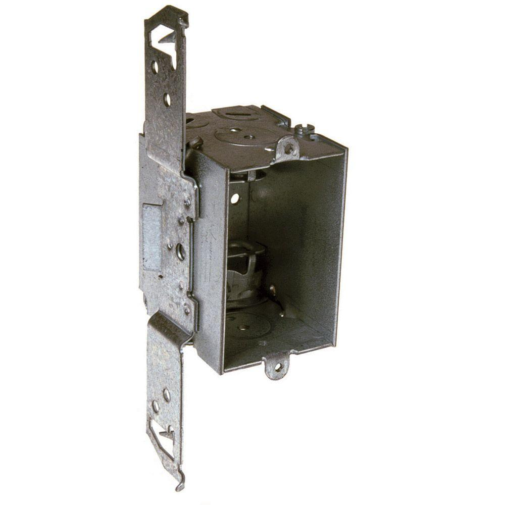 null 2-1/2 in. Deep Gangable Switch Box with Armored Cable/Metal Clad/Flex Clamps and TS Bracket (50-Pack)