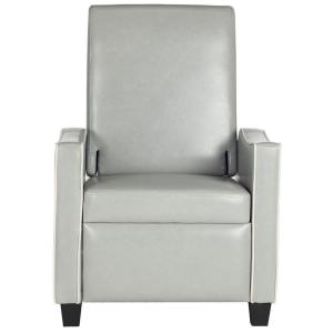 +6. Safavieh Holden Grey/White Bicast Leather Recliner  sc 1 st  The Home Depot & Safavieh Holden Grey/White Bicast Leather Recliner-FOX6208A - The ... islam-shia.org
