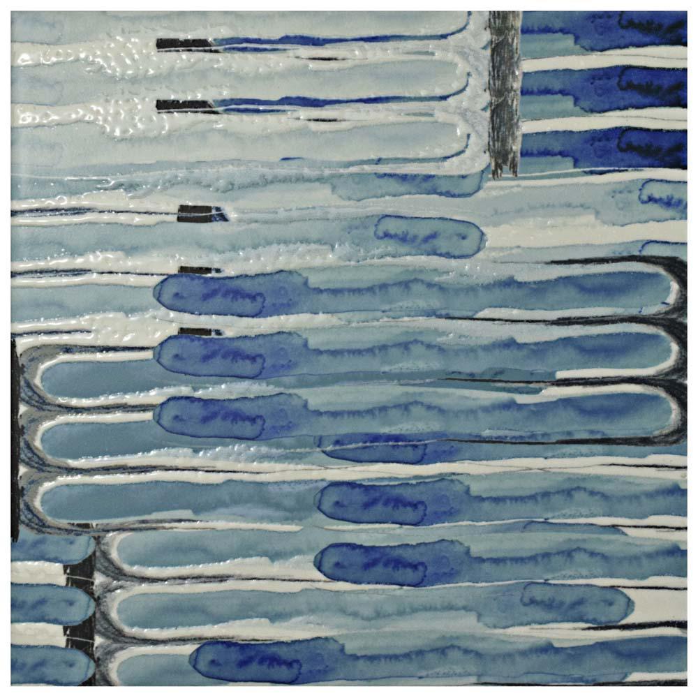 Merola Tile Artesanal Valentina 5-1/2 in. x 11 in. Ceramic Wall Tile ...