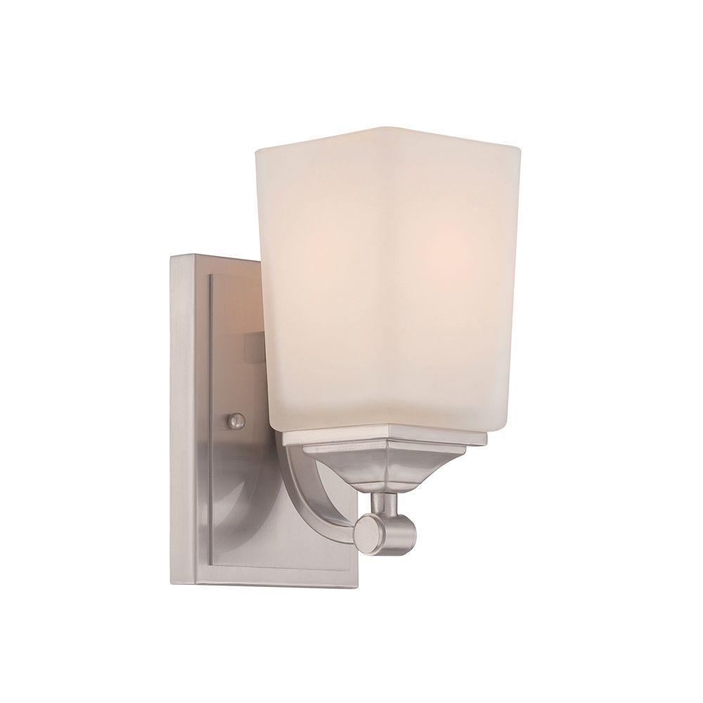 Corbin 1-Light Satin Platinum Wall Sconce