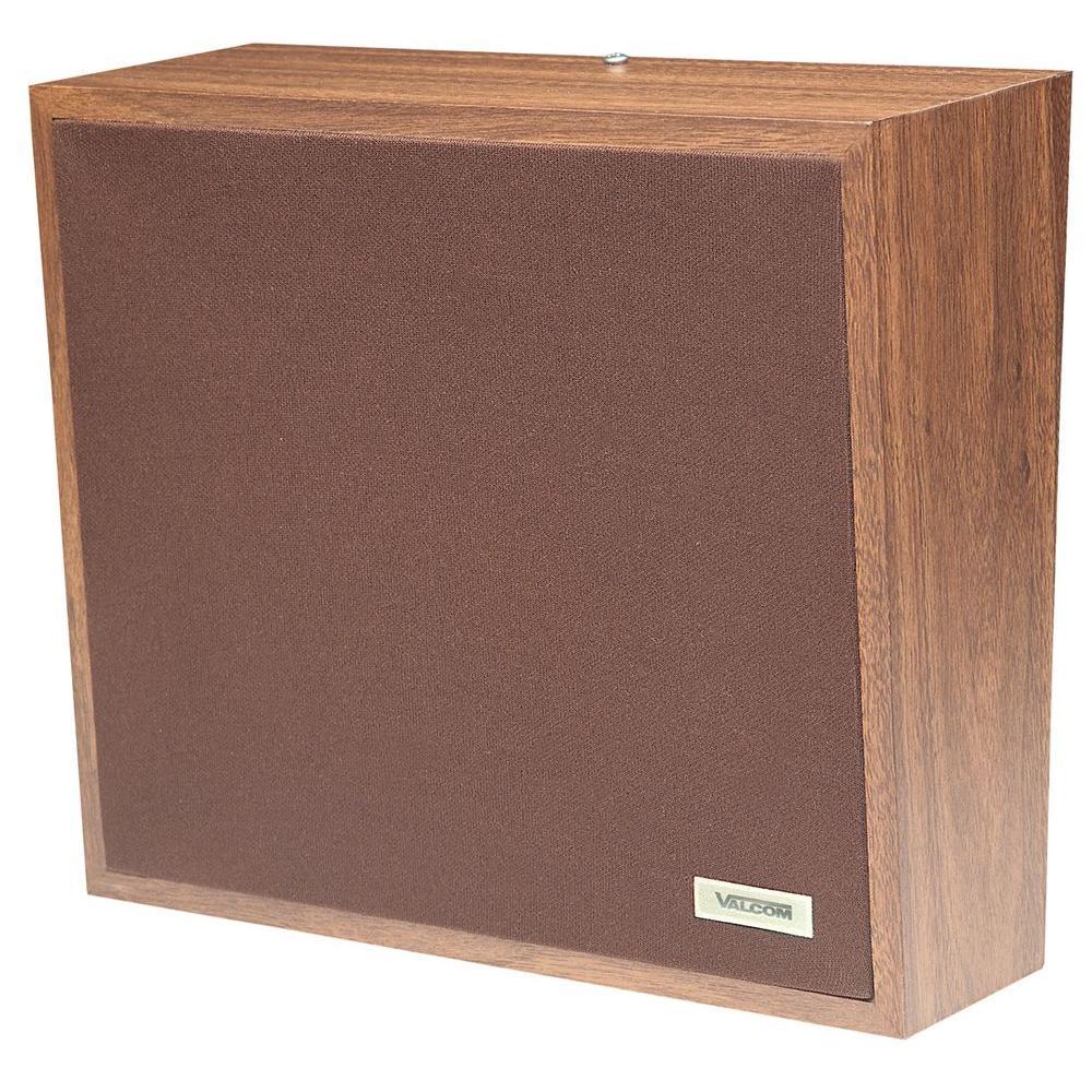 Valcom 1-Way Woodgrain Wall Speaker - Cloth