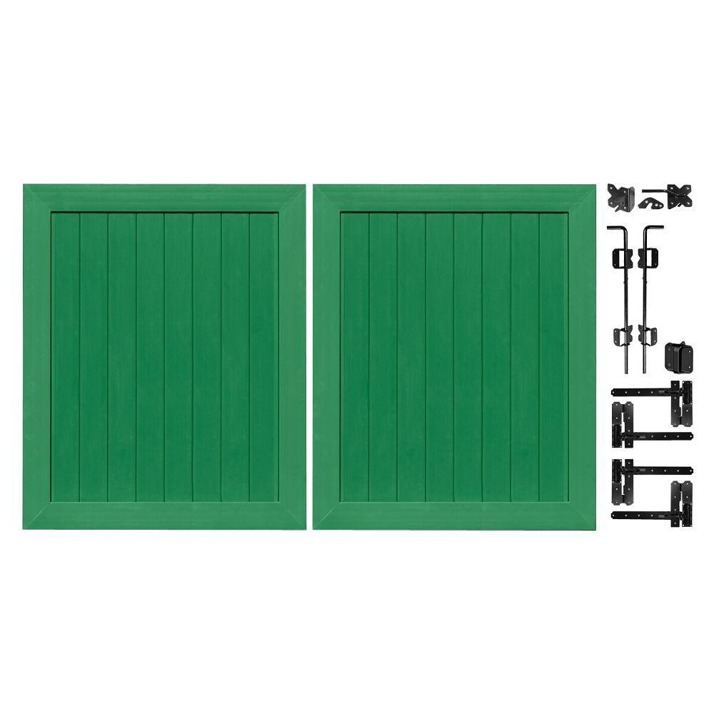 Pro Series 5 ft. W x 6 ft. H Green Vinyl