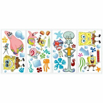 5 in. x 11.5 in. SpongeBob Square Pants Peel and Stick Wall Decals (45-Piece)