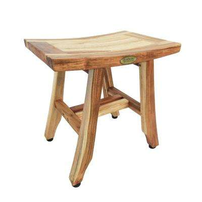 EarthyTeak Satori 14 in. Compact Shower Bench