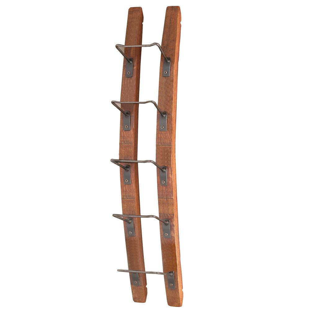 Wine Enthusiast Barrel Stave 5 Bottle Wall Wine Rack 570 08 10 The