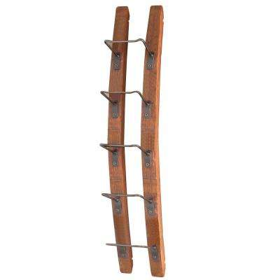 Barrel Stave 5-Bottle Wall Wine Rack