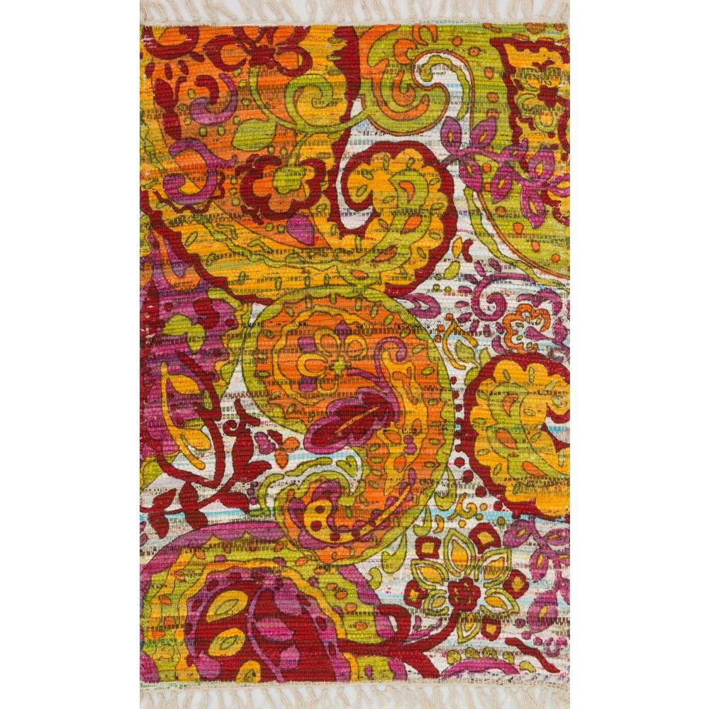 Loloi Rugs Aria Lifestyle Collection Green/Multi 1 ft. 9 in. x 5 ft. Area Rug