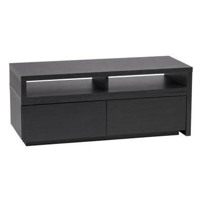 15 in. Black Particle Board TV Stand with 2 Drawer Fits TVs Up to 39 in. with Built-In Storage