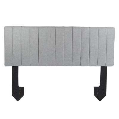 Delilah Channel Tufted Powered Silver King Headboard