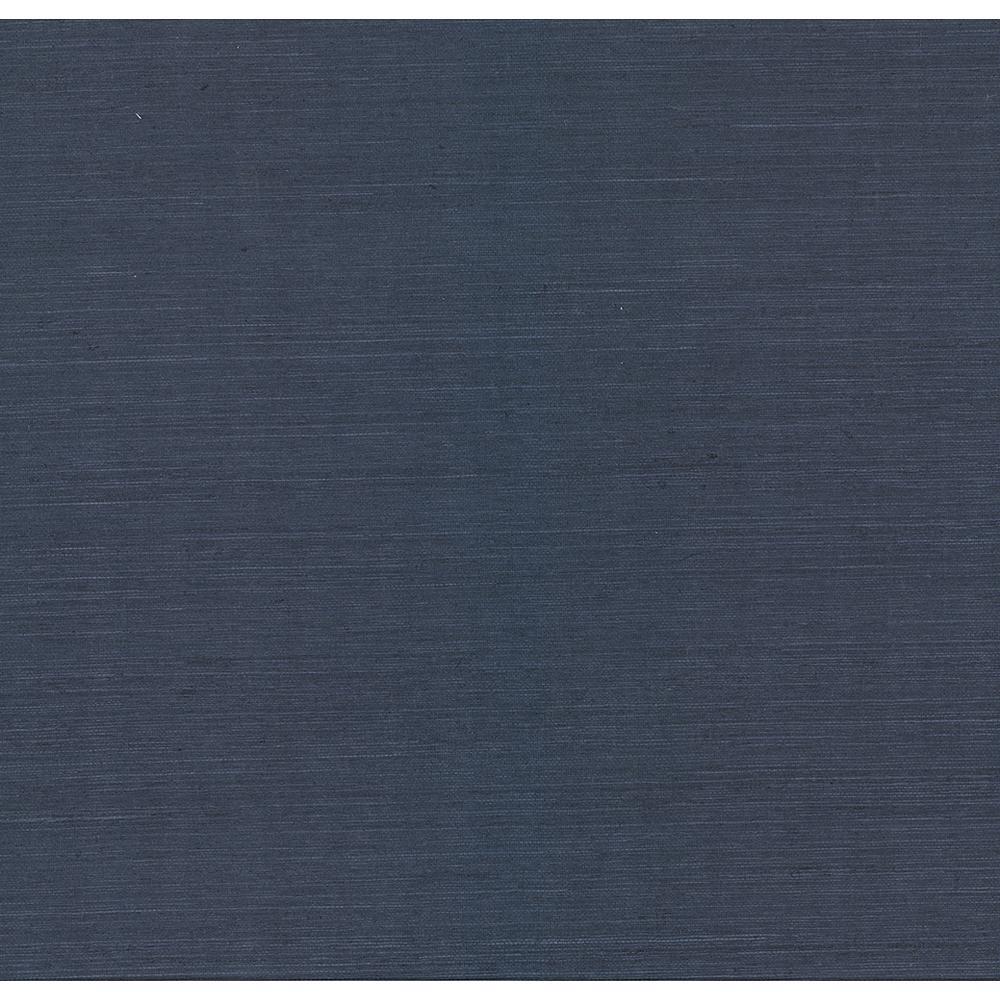 Kenneth James 72 sq. ft. Peninsula Navy Sisal Grass Cloth Wallpaper