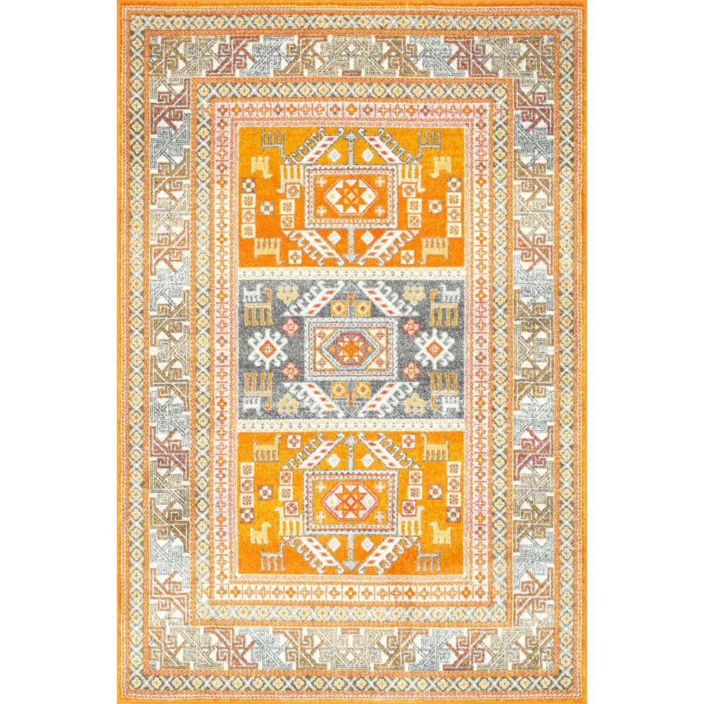 Nuloom tribal marisela yellow 2 ft 8 in x 8 ft runner
