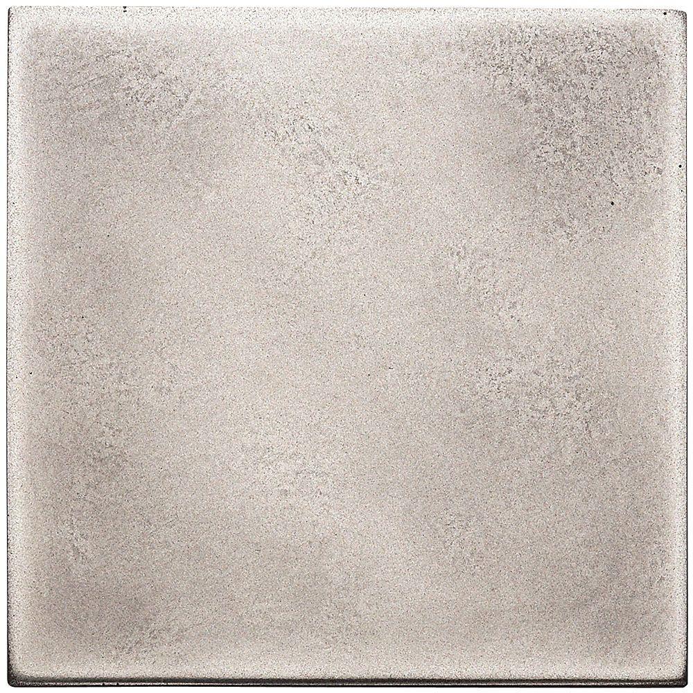 Weybridge 4 in. x 4 in. Cast Metal Field Brushed Nickel Tile (8 pieces / case)