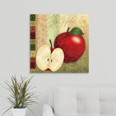 """Kitchen Garden - Apples"" by Lori Siebert Canvas Wall Art"