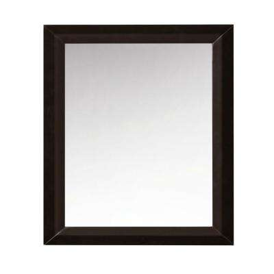 28 in. Framed Single Mirror in Espresso