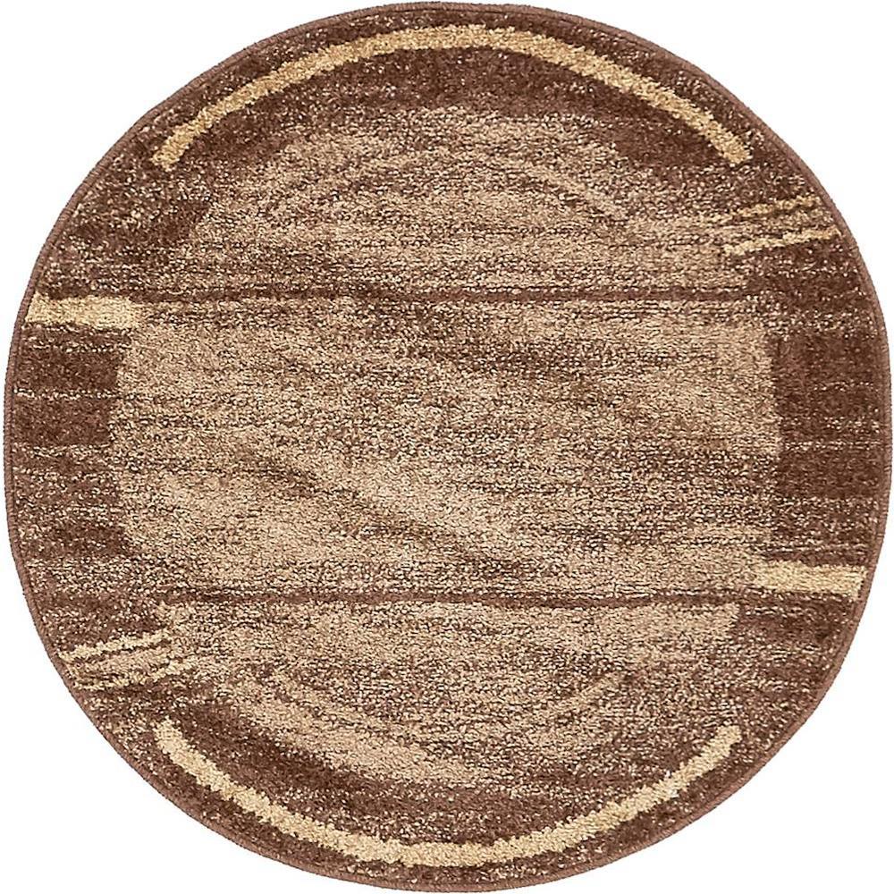 Unique Loom Autumn Foilage Brown 3 3 X 3 3 Round Rug