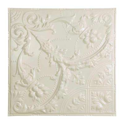 Saginaw 2 ft. x 2 ft. Nail-up Tin Ceiling Tile in Antique White