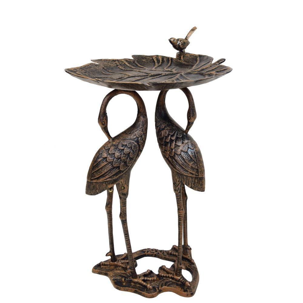 Crane Lily Birdbath