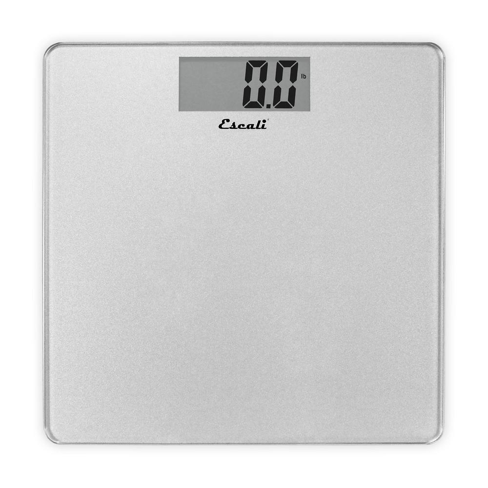 5f2e039cae3a Escali Digital Platform Bathroom Scale in Silver