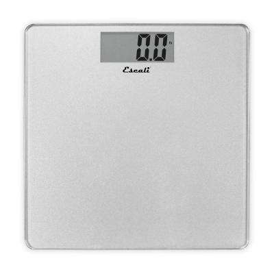 Digital Platform Bathroom Scale in Silver