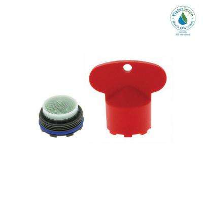 1.5 GPM Junior Size M21.5x1 PCA Cache Water-Saving Aerator with Key