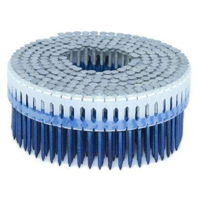 1.875 in. x 0.086 in. 0-Degree Ring Hot Dip Plastic Sheet Coil Nail 4,000 per Box