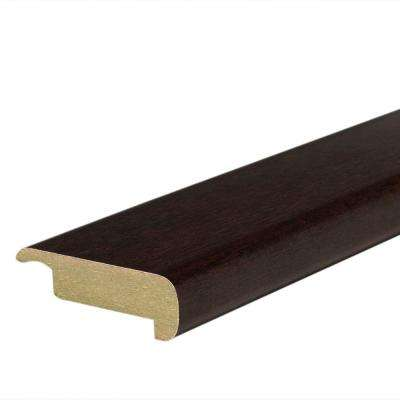 Chocolate Maple 4/5 in. Thick x 2-2/5 in. Wide x 78-7/10 in. Length Laminate Stair Nose Molding