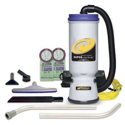 Super CoachVac 10 Qt. Backpack Vacuum Cleaner with Xover Multi-Surface 2-Piece Wand Tool Kit