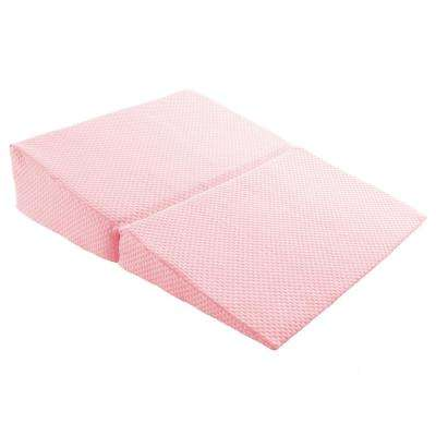 Memory Foam Pillow with Bamboo Fiber Cover Folding Wedge-Pillow in Pink