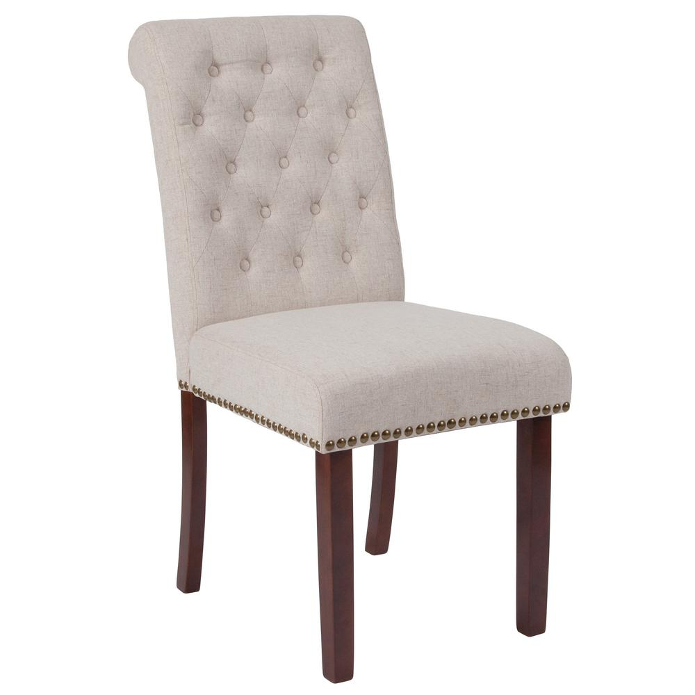 Hercules Beige Fabric Parsons Chair