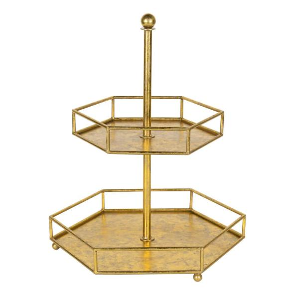 Kate and Laurel Felicia Gold Decorative Tray 211700
