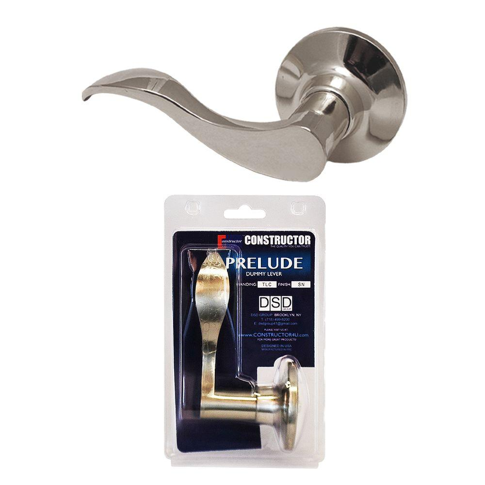 Satin Nickel Prelude Dummy Lever Left-Handed