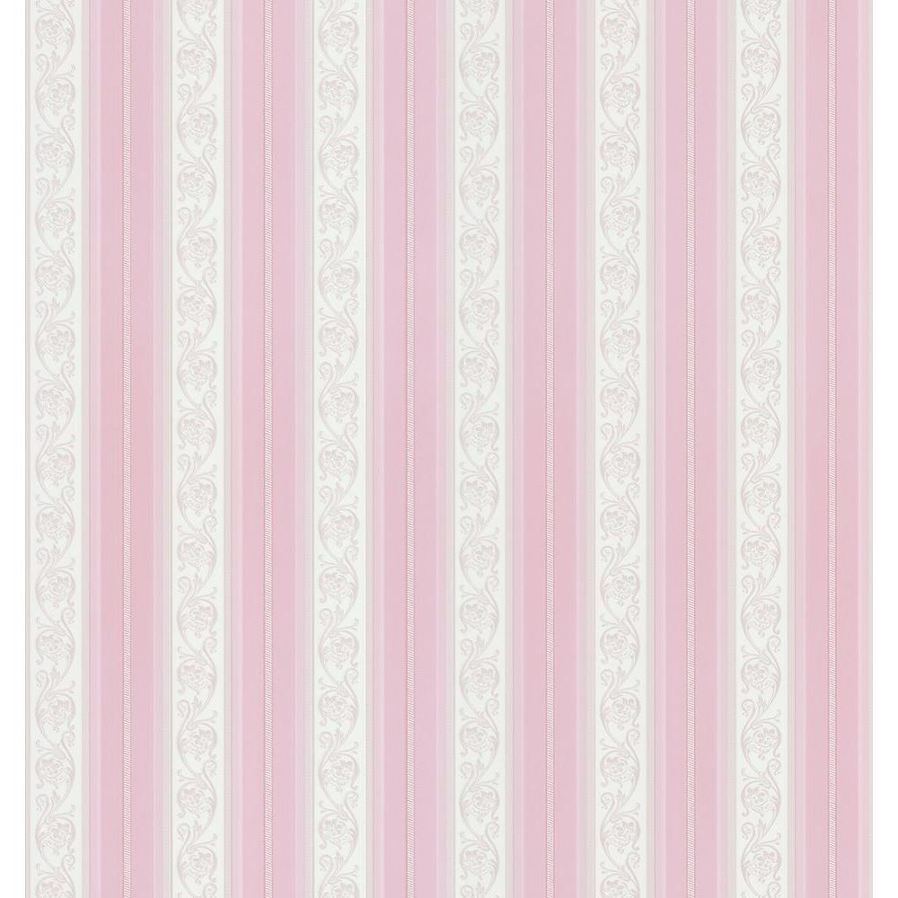 Brewster 56 sq. ft. Scroll Stripe Wallpaper