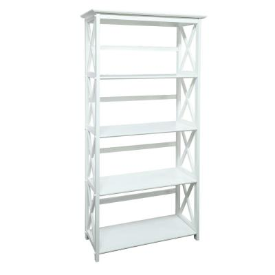 Montego White Open Bookcase