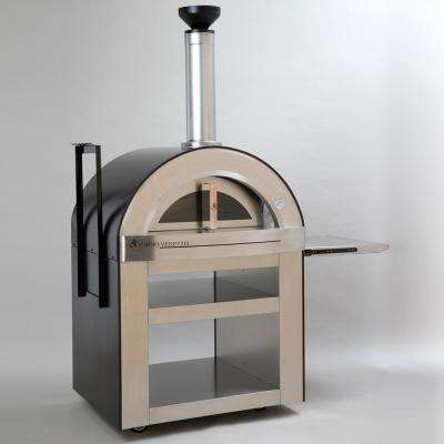 Torino 500 24 in. x 32 in. Wood Burning Oven with Cart in Copper