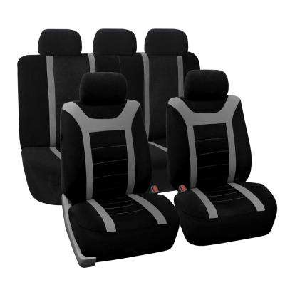Fabric 47 in. x 23 in. x 1 in. Full Set Sports Seat Covers