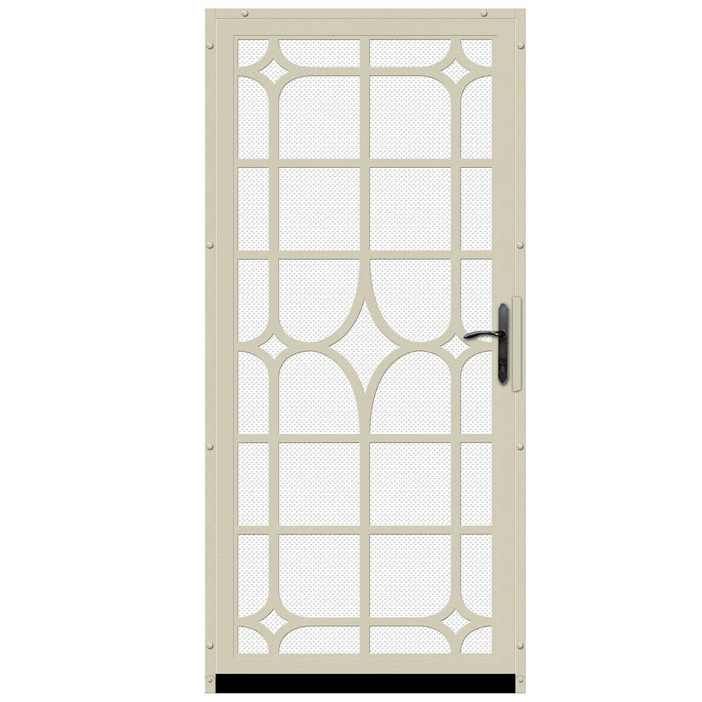 36 in. x 80 in. Lexington Almond Surface Mount Steel Security
