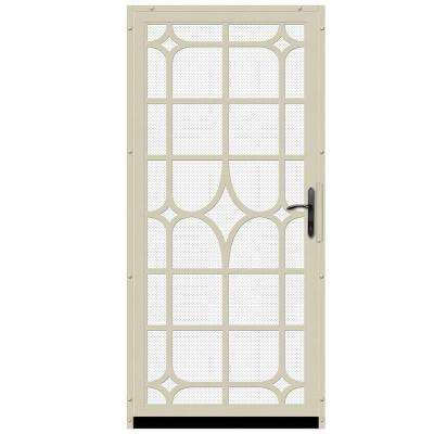 Lexington Outswing Security Door with Perforated Screen and Oil Rubbed Bronze Hardware