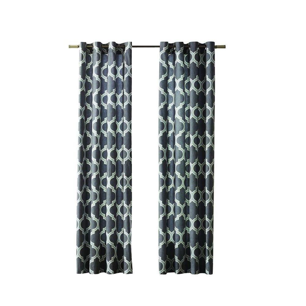 Home Decorators Collection Semi Opaque Black Fretwork