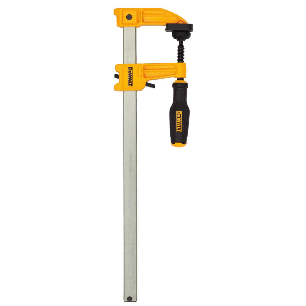 DEWALT 12 in. 600 lb. Bar Clamp w/2.5 in. Throat Depth