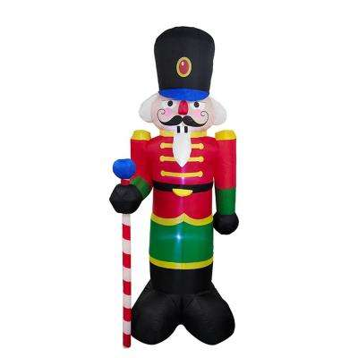 96 in. Christmas Inflatable Nutcracker with UL Certified Blower and LED Lights