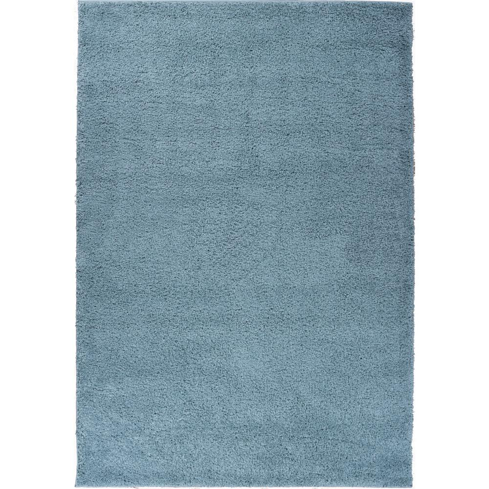 Well Woven Madison Shag Plain Light Blue 3 Ft X 5 Modern Solid Area Rug