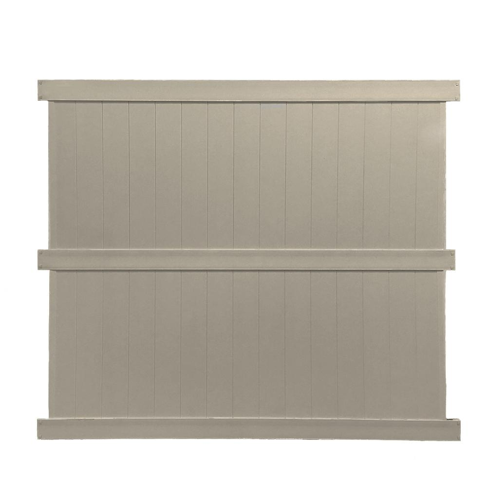 Weatherables Augusta 6 Ft H X 8 Ft W Khaki Vinyl Privacy