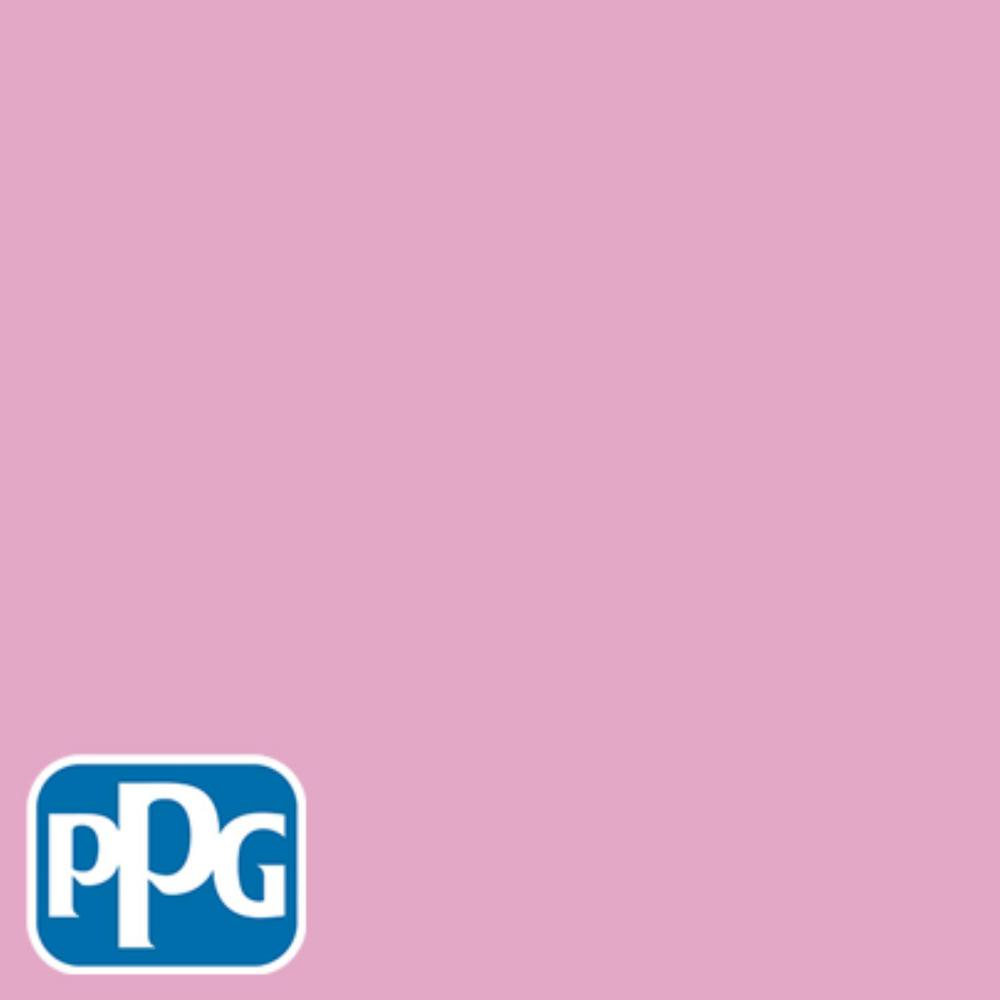 1 gal. #HDPPGR02U Valentine Pink Satin Interior One-Coat Paint with Primer