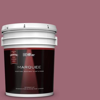 Behr Marquee 5 Gal Ppu13 02 Juniper Berries Flat Exterior Paint And Primer In One 445305 The Home Depot