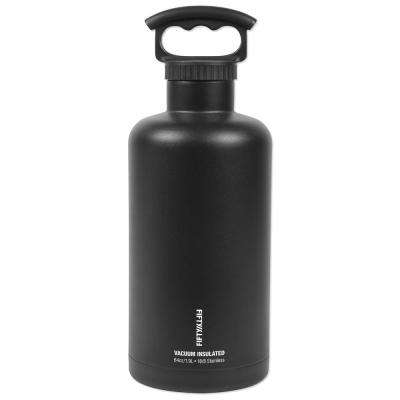 Premium Outdoor 64 oz. Black Insulated Beer Growler Bundle